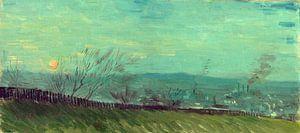 Vincent van Gogh, Zonsondergang te Montmartre