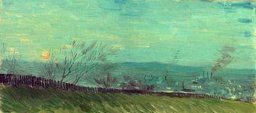 Vincent van Gogh, Zonsondergang te Montmartre van 1000 Schilderijen