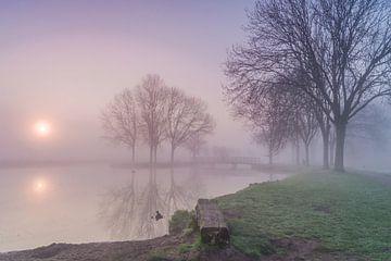 Zonsopkomst met mist! van Rossum-Fotografie