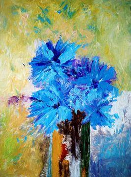 Bloemenblauw van Angel Estevez