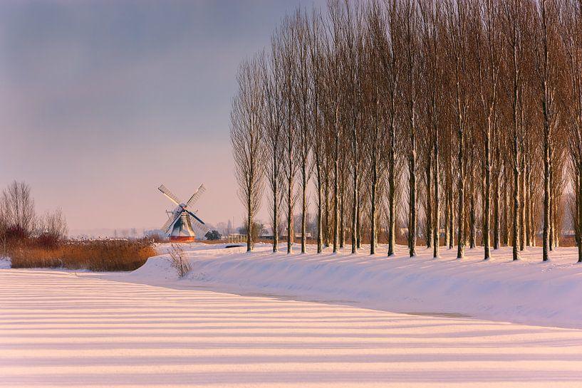 Noordermolen, Noorddijk, Groningen, Nederland van Henk Meijer Photography