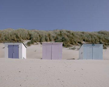 Chalets de plage sur Texel sur Eliane Roest
