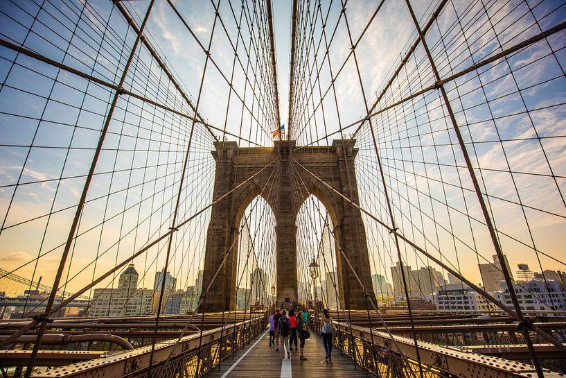 The Brooklyn Bridge van Michel van Rossum