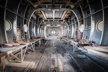 Lost plane, verlaten vliegtuig van Erik Noordhoek