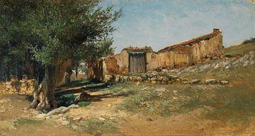 Carlos de Haes-A Korral, Antike Landschaft