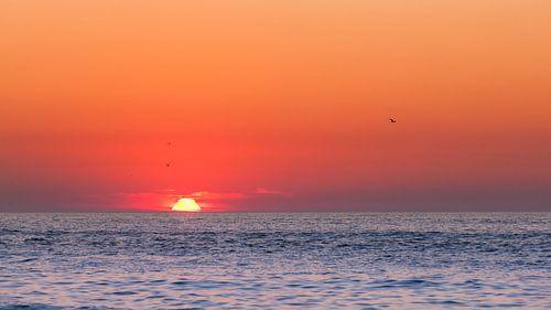 Zonsondergang strand Terschelling