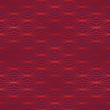 ELEGANT BEED RED TANGERINE PATTERN v3 van Pia Schneider