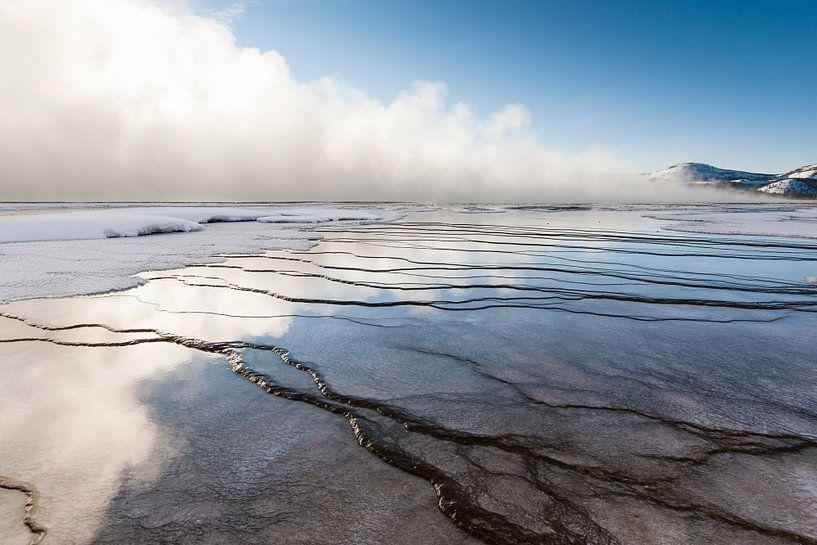 Landschap in Yellowstone Nationaal Park van Caroline Piek