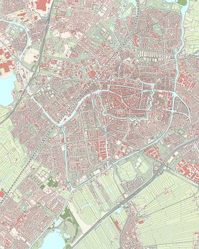 Karte von Leiden
