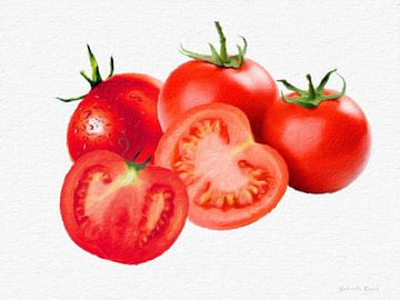 Frische Tomaten van Gabriella David