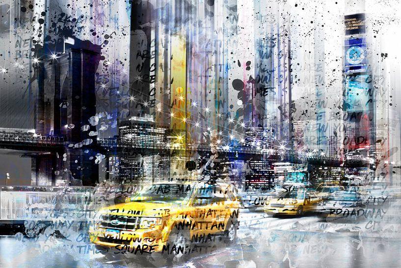 City-Art NYC Collage van Melanie Viola