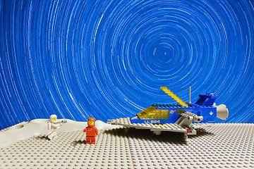 Le vaisseau spatial LEGO sur la Lune sur Michiel Mos