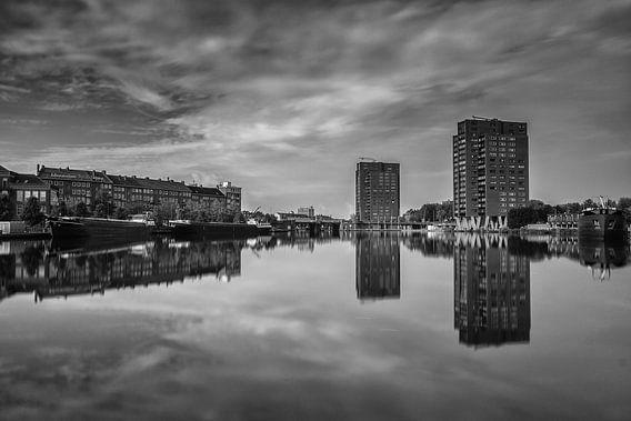 Coolhaven Rotterdam in zwartwit