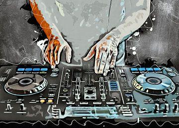 DJ set muziek kunst #dj #muziek van JBJart Justyna Jaszke