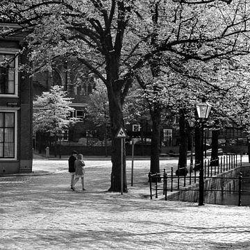 Dordrecht achter de Grote Kerk von Dordrecht van Vroeger