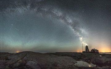 Leuchtturm Storkleppens Leuchtturminsel Milchstraßen-Galaxie von Marc Hollenberg