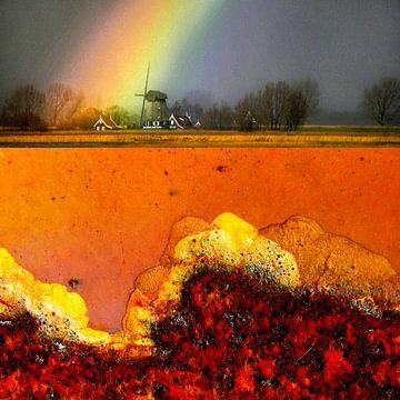 Regenboog Eilandspolder von Ger Veuger