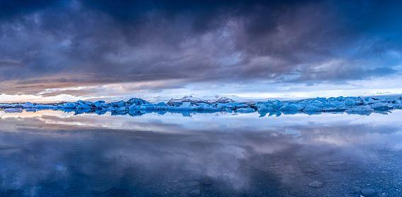 Panorama Jokulsarlon van Tom Opdebeeck