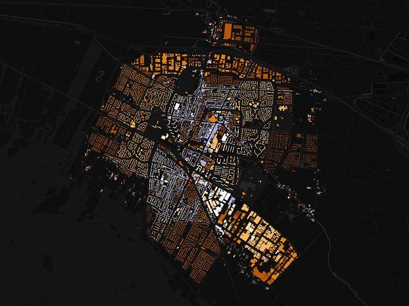 Kaart van Veenendaal abstract van Stef Verdonk