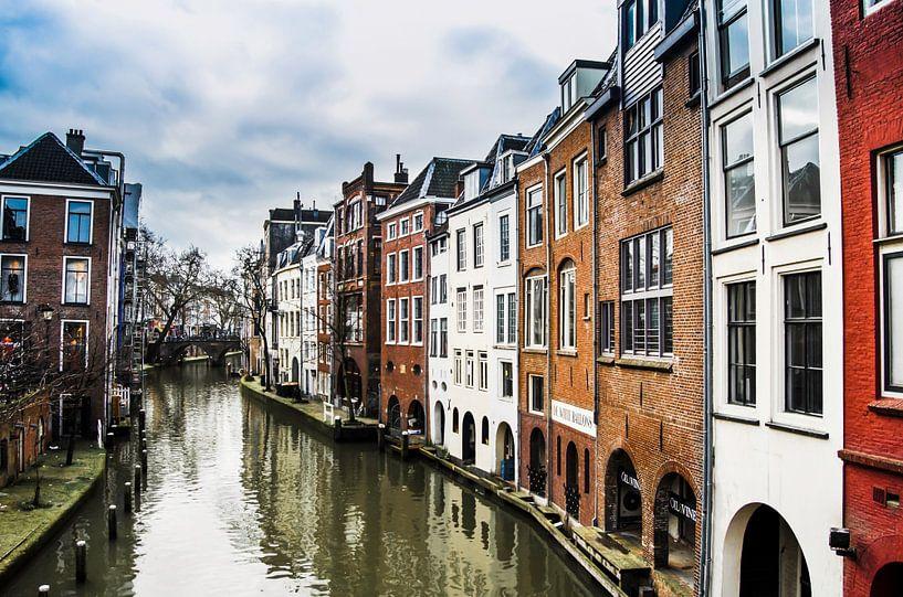 Oudegracht in Utrecht van Ricardo Bouman | Fotografie