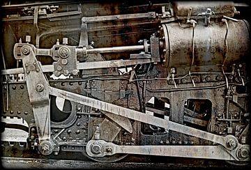 Ölige Teile einer alten Dampfzahnradbahn sur Leopold Brix