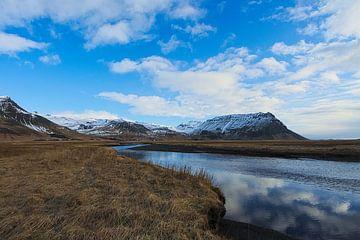 Isländische Landschaft von Leon Eikenaar