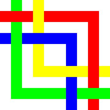 Onder en boven | Permutatie | ID=10 | V=32 | 4xL | P #01-W van Gerhard Haberern