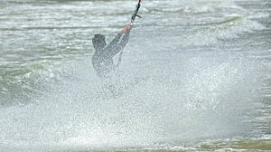 Texel - Kitesurfen van foto zandwerk
