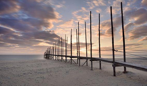 Steiger voor de boot van Texel naar Vlieland van John Leeninga