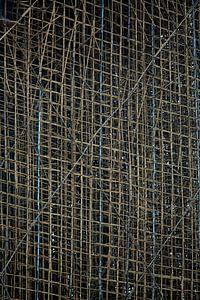 Steiger van bamboe in Hong Kong van