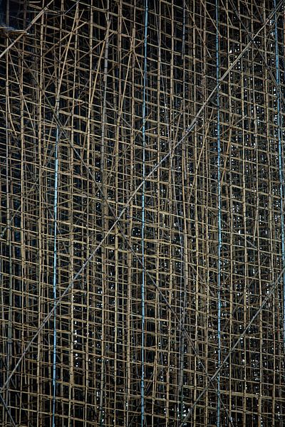 Steiger van bamboe in Hong Kong