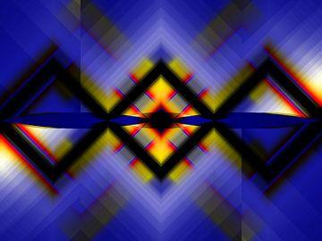 Abstrakt 11333  Symmetrie von Claudia Gründler