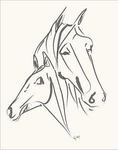 Paard  Mother love