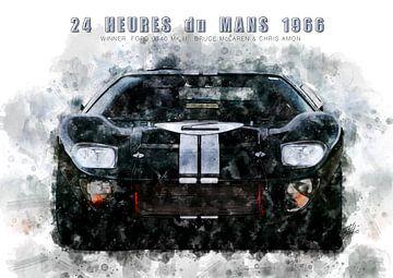 Ford GT40, Le Mans Sieger 1966 von Theodor Decker