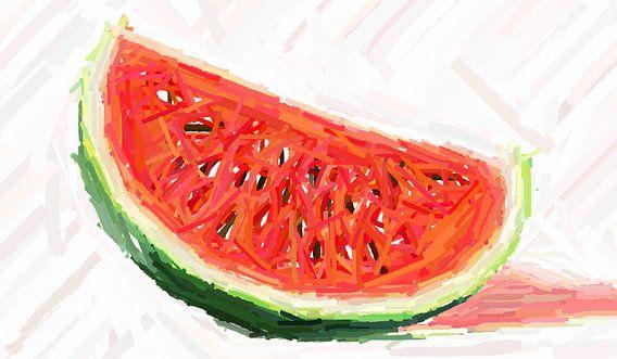 Melone  abstrakt