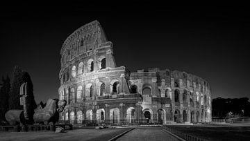Rome - Colosseum - Black & White  van Teun Ruijters