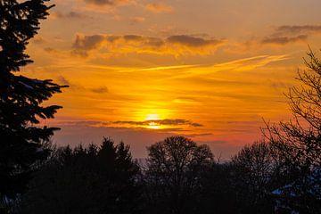 Mooie zonsondergang van Nynke Nicolai
