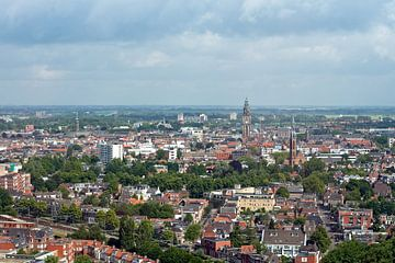 Uitzicht op Groningen van Bob van den Brink