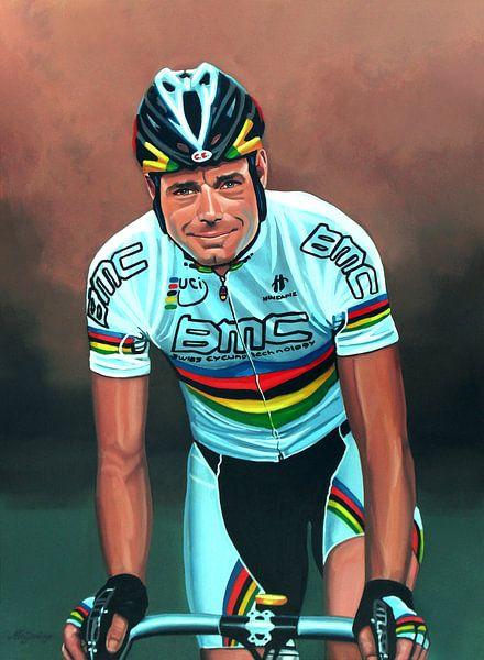 Cadel Evans schilderij van Paul Meijering