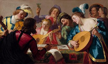 Concert - Gerard van Honthorst, 1623 van Atelier Liesjes