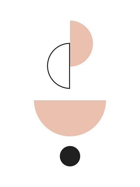 Abstrakte Balance Geometrischer Druck von MDRN HOME