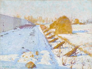 Robert William Vonnoh~Winter zon en schaduw