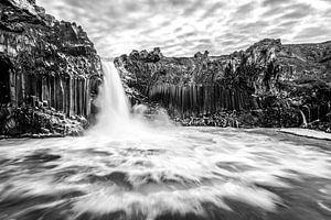 Aldeyjarfoss, de basalt waterval van Noord IJsland van