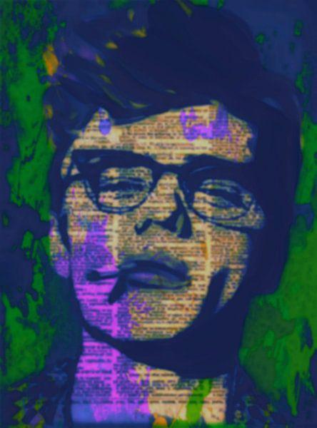 James Dean Newspaper Pop Art PUR van Felix von Altersheim