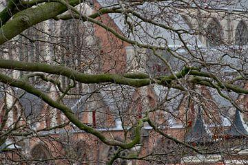Hooglandse kerk in Leiden, Zuid-Holland van