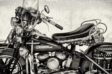 La Harley Davidson I BW d'époque sur Martin Bergsma