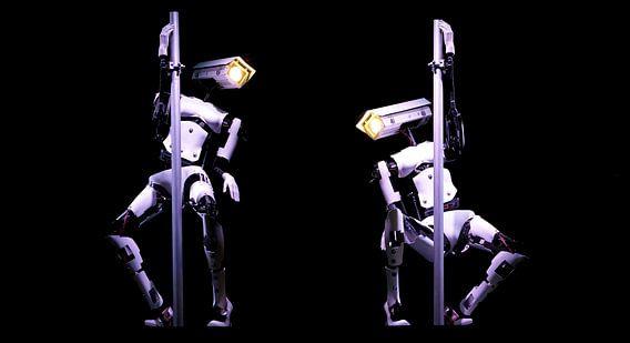 Twee Robot Paaldansers