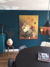 Klantfoto: Stilleven met bloemen in een vaas van Hollandse Meesters