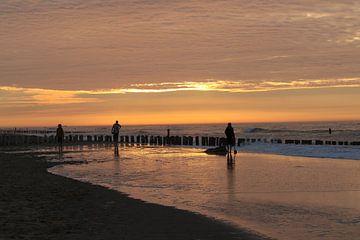 zonsondergang op het strand van Frans Versteden