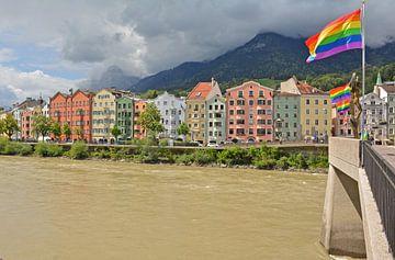 Innsbruck altstadt in Oostenrijk van Martine Moens